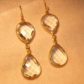 Crystal 2-Drop Earrings