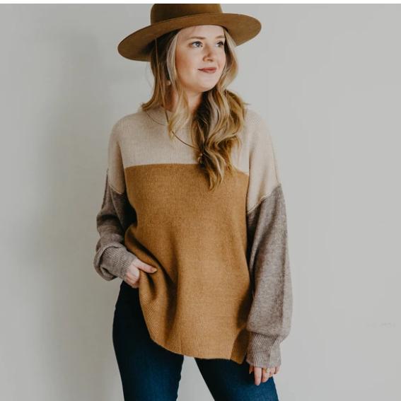 Dane Color Block Sweater